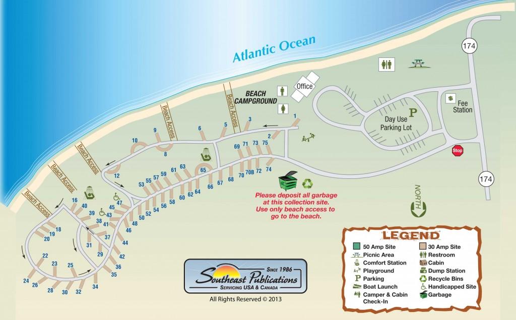 Edisto Beach Campground Map